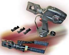 Hydraulic Crimping Tools provide 6-ton crimping force.