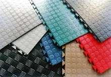 Floor Tiles utilize hidden interlock system.