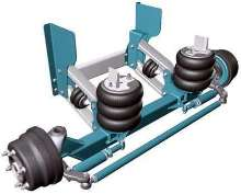 Self-steering, Auxiliary Lift Axle has 8,000 lb capacity.
