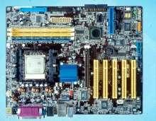 Motherboard delivers 64-bit power.