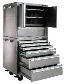 Modular Cabinets provide secure storage on shop floor.