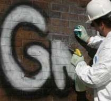 Coating and Cleaner inhibit and remove graffiti.