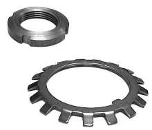 Bearing Lock Nuts and Lock Washers come in metric sizes.