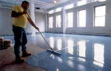 Seamless Epoxy Floor Resurfacer covers damaged floors.