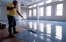 Seamless Epoxy Floor Resurfacer covers damaged floors.