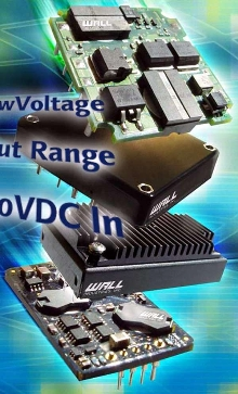 Modifiable DC/DC Converters come in half-brick package.