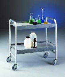 Portable Table transfers laboratory equipment.