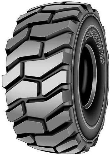 Radial Tire provides optimal traction for large scrapers.