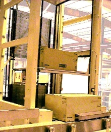 Vertical Conveyor suits material handling applications.