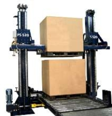 Pallet Load Stacker uses minimum amount of floor space.