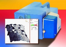 Geometry Scan Unit determines 3D shape of test objects.