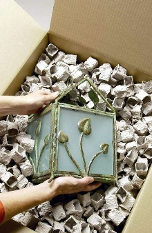 Packaging Material protects fragile products of any shape.