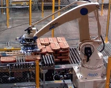 Robotic Palletizer fits in tight spaces.
