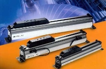 Pneumatic Rodless Cylinders feature space-saving design.