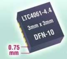 Linear Battery Charger powers 4.375 V Li-Ion batteries.