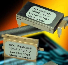 Low-ESR Pulse Supercapacitors have 3.3-12 V voltage range.