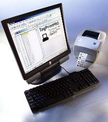 Software facilitates label creation and printing.
