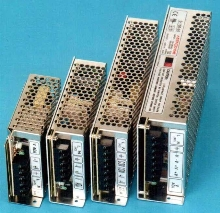 Switching Power Supplies have 25-150 W output range.