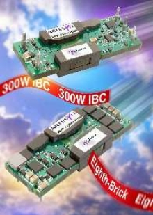 Intermediate Bus Converters offer 300 W output capability.