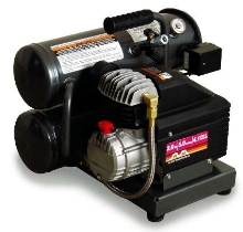 Electric Air Compressor features 2.0 hp, 120 V motor.
