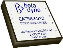 DC/DC Converters produce 75 W power output.