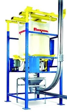 Bulk Bag Discharger works with pneumatic conveyors.