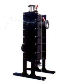 Heat Exchanger utilizes all-welded plates.