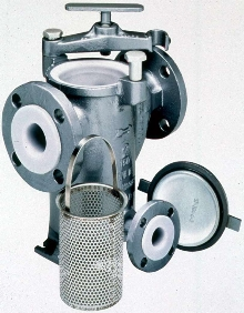 Basket Strainer is suited for corrosive applications.
