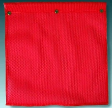 Knit Safety Flag resists cracking, peeling, and fraying.