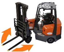 Battery-Powered Forklift offers operational flexibility.