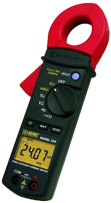 Clamp-On Meter measures low AC currents.