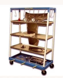 Steel Cart organizes and moves parts.