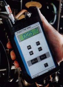 Portable Meter aids in gasoline engine maintenance.