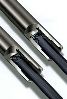 Inserts can be used for grooving, turning, and profiling.
