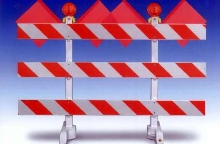Barricade provides temporary traffic control.