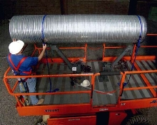 Pipe/Duct Accessory facilitates overhead installation.