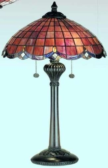 Lighting Series offers 20th century stained glass motif.