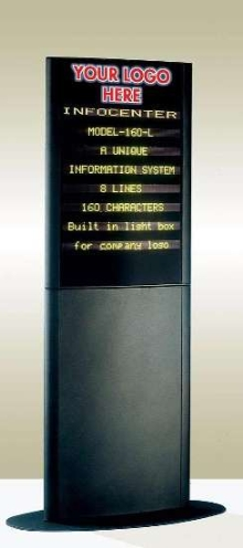 Information Display can be seen up to 60 ft away.