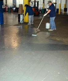 Epoxy Coating protects floors in industrial facilities.