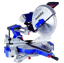 Miter Saw crosscuts material 12½ in. wide and 4¾ in. high.