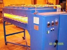 Electric Infrared Oven removes moisture on steel web.