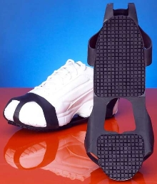 Footwear reduces occurrence of slips and falls.