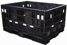 Reusable Container accepts long and hard-to-fit parts.