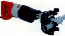 Reciprocating Saw Accessory aids in right angle cutting.