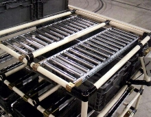 Material Handling System includes roller conveyor sections.