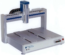Dual Worktable Robots automate dispensing operations.