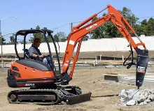 Compact Excavator enhances on-site maneuverability.