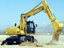 Wheeled Excavators cover range of operations.