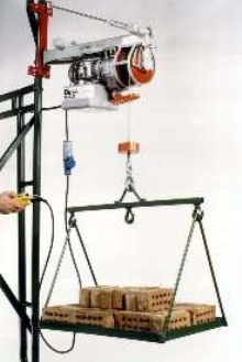 Portable Hoists replace ropes and pulleys