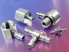 Fittings offer single-barb design.